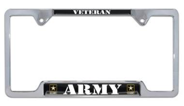 Full-Open Army Veteran Open License Plate Frame