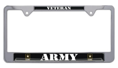 Full-Color Army Veteran License Plate Frame