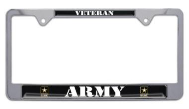 Full-Color Army Veteran License Plate Frame