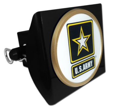 Army Seal Emblem on Black Plastic Hitch Cover