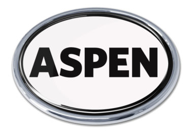 Aspen White Chrome Emblem