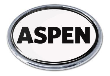 Aspen White Chrome Emblem