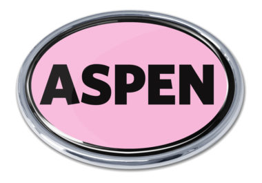 Aspen Pink Chrome Emblem