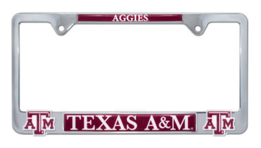 Texas A&M Aggies 3D License Plate Frame