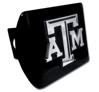 Texas A&M Emblem on Black Hitch Cover