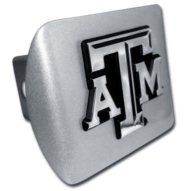 Texas A&M Emblem on Brushed Hitch Cover