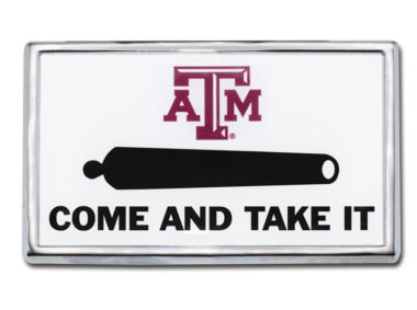 Texas A&M Cannon Chrome Emblem