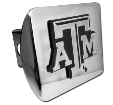Texas A&M Emblem on Chrome Hitch Cover image