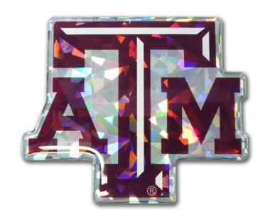 Texas A&M Maroon 3D Reflective Decal image