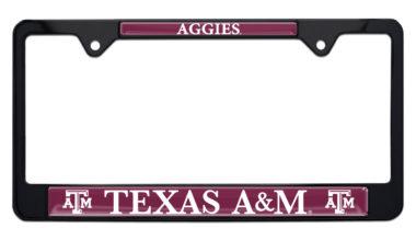 Texas A&M Aggies Black License Plate Frame