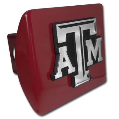 Texas A&M Emblem on Maroon Hitch Cover image