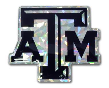 Texas A&M Black 3D Reflective Decal