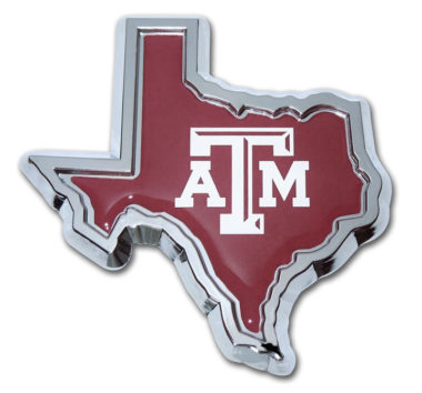 Texas A&M State Shape Color Chrome Emblem