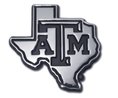 Texas A&M State Shape Chrome Emblem image