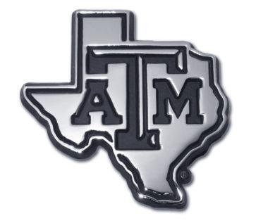 Texas A&M State Shape Chrome Emblem image