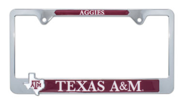 Texas A&M Aggies Texas 3D License Plate Frame