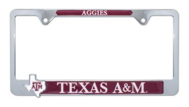 Texas A&M Aggies Texas 3D License Plate Frame image