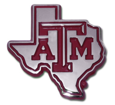 Texas A&M State Shape Maroon Emblem image
