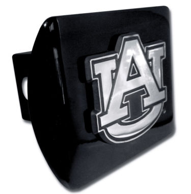 Auburn Emblem on Black Hitch Cover