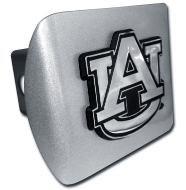 Auburn Emblem on Brushed Hitch Cover