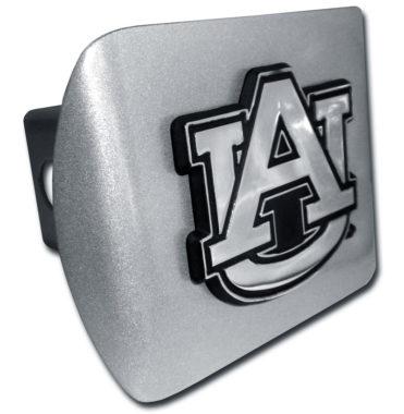 Auburn Emblem on Brushed Hitch Cover