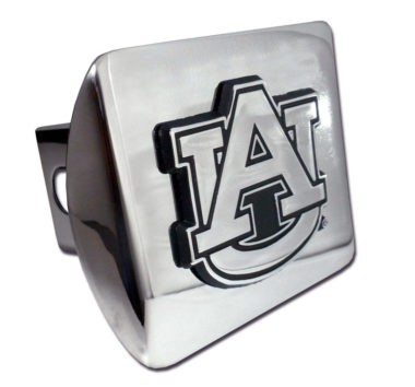 Auburn Emblem on Chrome Hitch Cover