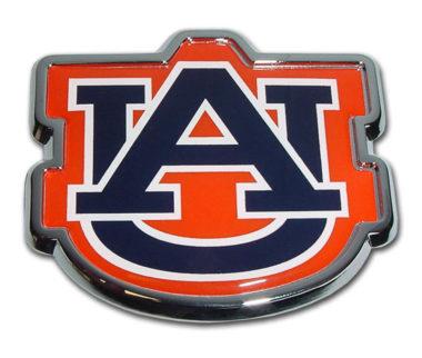 Auburn Navy Chrome Emblem