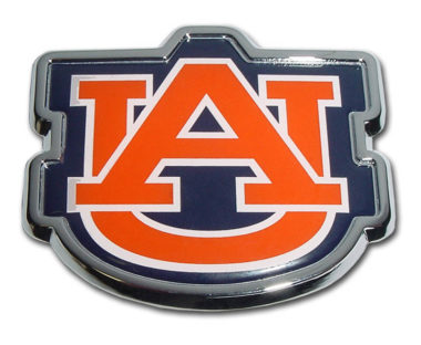 Auburn Orange Chrome Emblem