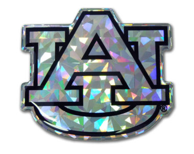 Auburn Silver 3D Reflective Decal