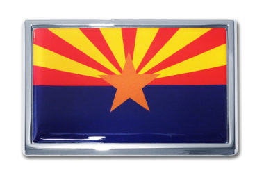 Arizona Flag Chrome Emblem