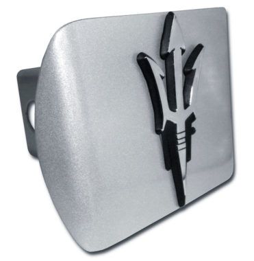 Arizona State Pitch Fork Brushed Chrome Metal Hitch Cover