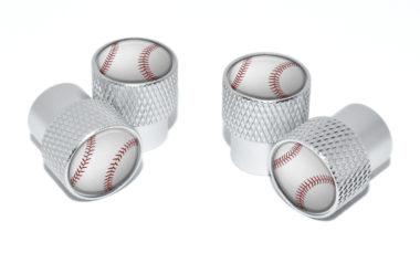 Baseball Valve Stem Caps - Matte Knurling