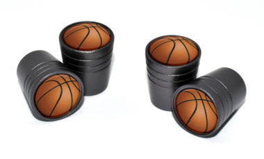 Basketball Valve Stem Caps - Black
