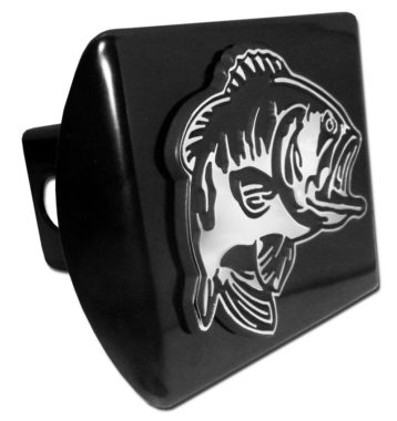 Bass Emblem on Black Hitch Cover