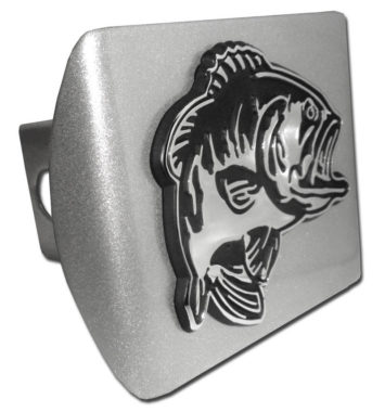 Bass Emblem on Brushed Hitch Cover