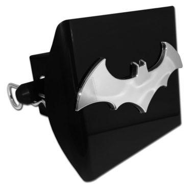 Batman Bat Emblem on Black Plastic Hitch Cover image