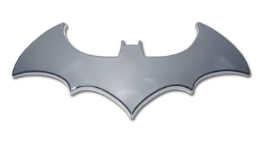Batman Bat Chrome Emblem