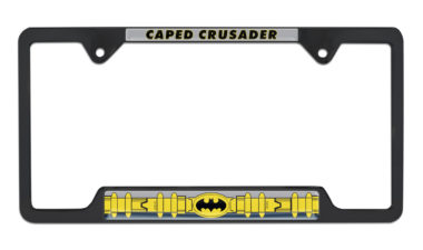 Batman Belt Open Black License Plate Frame
