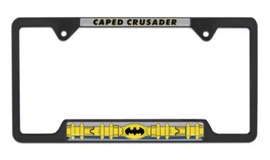 Batman Belt Open Black License Plate Frame image