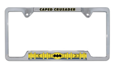 Batman Belt Open Chrome License Plate Frame