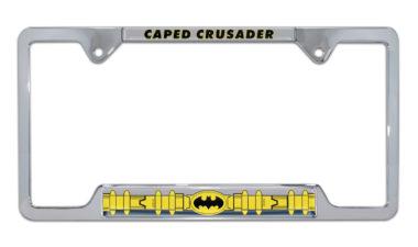 Batman Belt Open Chrome License Plate Frame image
