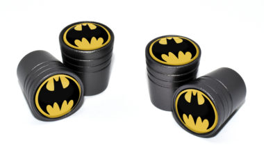 Batman Valve Stem Caps - Black Smooth