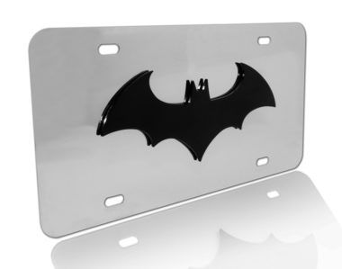 Batman Black with Stainless Steel License Plate