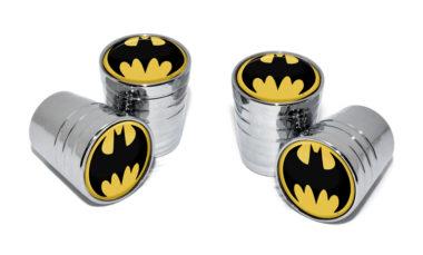 Batman Valve Stem Caps - Chrome Smooth