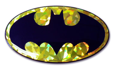 Batman Yellow 3D Reflective Decal