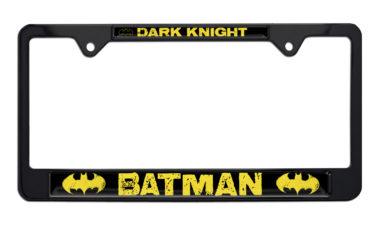 Batman Dark Knight Black License Plate Frame image