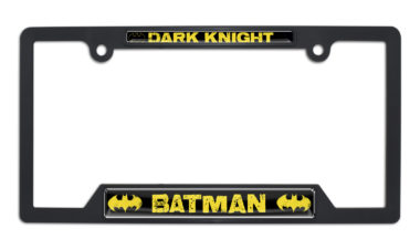 Batman Dark Knight Open Black Plastic License Plate Frame