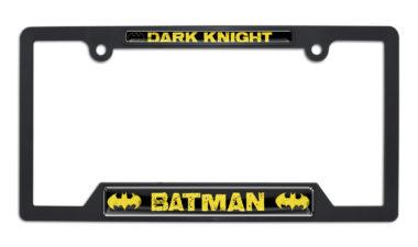 Batman Dark Knight Open Black Plastic License Plate Frame