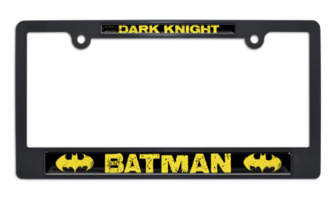 Batman Dark Knight Black Plastic License Plate Frame