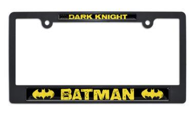 Batman Dark Knight Black Plastic License Plate Frame image